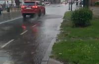 Ulewa na Podmłyńskiej w Gdańsku