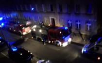 Nocna akcja strażaków na ul. Traugutta