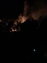 Pożar na terenie Pekinu w Gdyni