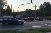 Skutki kolizji radiowozu na Władysława IV w Gdyni