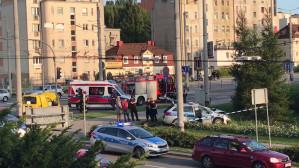 Radiowóz skasowany na Władysława IV w Gdyni