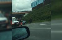 Wypadek na wysokości Auchan w stronę Gdańska