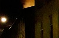 Pożar na skrzyżowaniu Podmiejska - Zamiejska