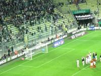 Lechia: piłkarze i kibice po wygranej nad Koroną Kielce