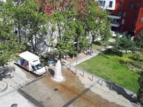 Fontanna z hydrantu na Garnizonie