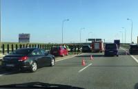 Wypadek przed bramkami autostrady