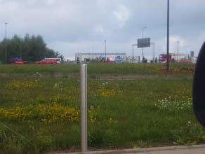 Zderzenie dwóch aut obok lotniska