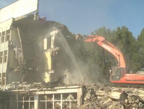 Wyburzanie budynku Hydrobudowy