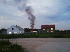 Pożar w warsztacie samochodowym na Kokoszkach