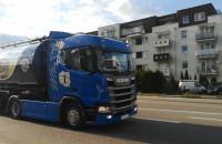 Przejazd ciężarówek Scania przez Gdańsk