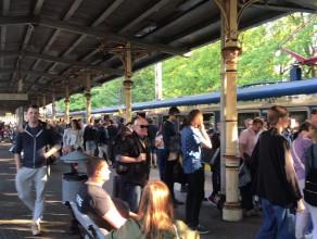 Tłok na peronie w Sopocie po awarii SKM