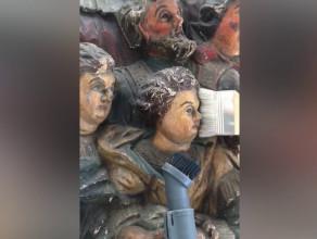 Renowacja XVII-wiecznej rzeźby z kościoła św. Mikołaja