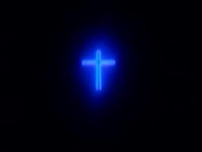 Migający krzyż na wieży Kościoła pw. ...