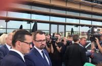 Premier Mateusz Morawiecki podczas krótkiej wizyty w Gdyni