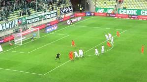 Karny dla Zagłębia Lubin w meczu z Lechią w Gdańsku