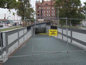 Nieudane sprzątanie tunelu przy Forum Gdańsk