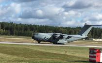 Samolot Luftwaffe startuje z Gdańska