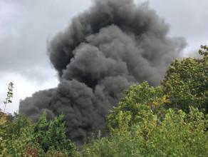 Pożar altanki na ul.Świdnickiej