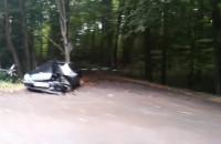 Rozbity Mercedes na Słowackiego