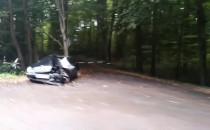 Rozbity Mercedes na Słowackiego w stronę...