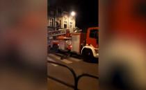 Pożar na skrzyżowaniu Małomiejskiej z...