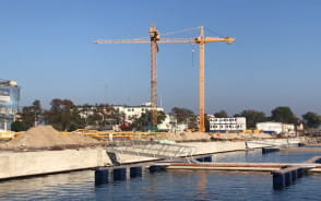 Pomost mariny Yacht Park gotowy