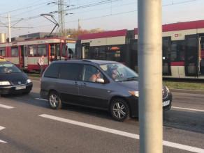 Kolizja tramwajów na Marynarki Polskiej
