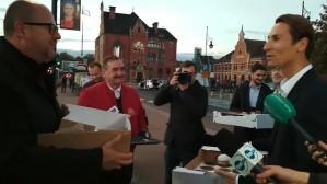 Spotkanie Pawła Adamowicza z Kacprem Płażyńskim