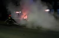 Nocny pożar samochodu na Siedlcach