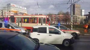 Wykolejenie tramwaju przy Zieleniaku