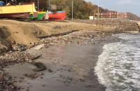 Przystań na Oksywiu po październikowych sztormach