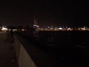Gdyński bulwar nocą