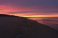Zachód słońca na Wyspie Sobieszewskiej