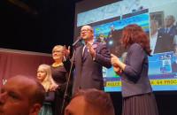 Paweł Adamowicz - ogłoszenie wyników II tury w sztabie wyborczym