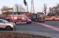 Wypadek z udziałem tramwaju na Zaspie