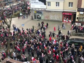 Uczestnicy Parady Niepodległości w Gdańsku