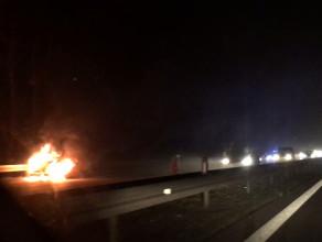 Pożar auta na obwodnicy