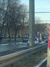 "Ulica Morska zalana - ""przejezdny"" tylko jeden pas"