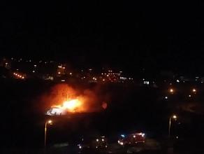 Pożar na terenie działek przy ul. Hynka