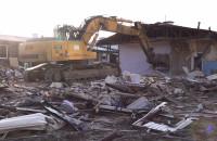 Wyburzanie budynków przy ul. Dickmana na Oksywiu