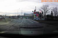 Wymuszenie przez kierującego tramwajem.