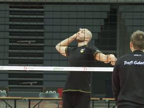 Bartosz Kurek na treningu Trefla Gdańsk