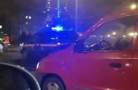 Wypadek auta na skrzyżowaniu al. Rzeczypospolita - Chłopska