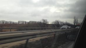 Korek od obwodnicy południowej w kierunku Gdyni