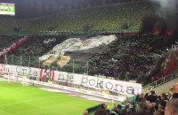 Hymn Polski na meczu Lechii