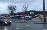 Policjanci w autobusie na Wzgórzu w Gdyni