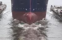 Wodowanie statku w Stoczni Gdańsk