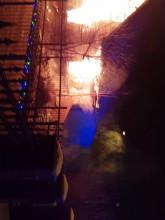 Pożar na ul. Sokoła na Stogach
