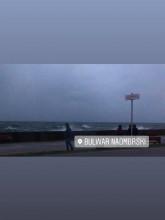Niespokojne morze w Gdyni