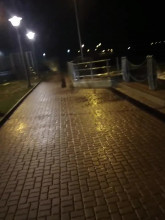 Nowy Port - kapitanat portu podczas sztormu